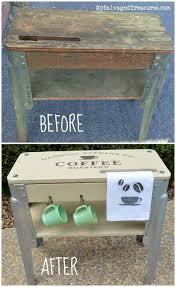 before and after repurposed grungy old workbench and a real labor of love by mysalvagedtreasures