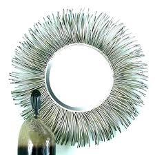 starburst wall mirror silver clock mirrors art large sunbu