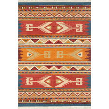 lodge hand woven wool red orange area rug rugs mountain continental company cabin area rugs