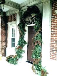Swinging Front Door Garland Doorway Hanger Double Around