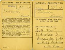 ww british national registration identity cards