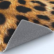 vegan leopard skin animal fur design rug