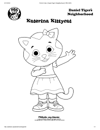 Coloring pages have always been a great way for kids to awaken their creativity and to keep them amused for a long time. Katerina Kittycat Coloring Page Kids Coloring Pbs Kids For Parents