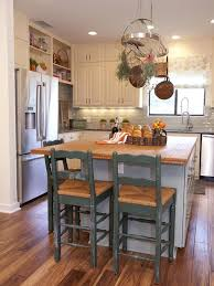 white country kitchen with butcher block.  Country Butcher Block Island With Stools White Country Kitchen 99  Beautiful In With N