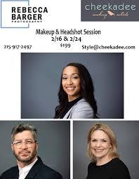 makeup headshot sessions at cheekadee