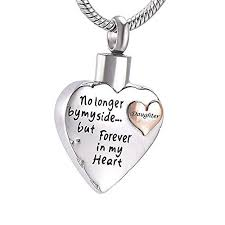 charm collection cremation urn jewelry for papa mom dad heart memorial urn pendant necklace keepsake