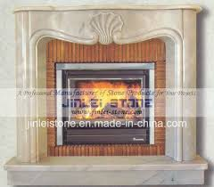 natural stone antique white marble fireplace mantels for room
