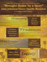 Family Reunion Book Template Sharing The Legacy Reunion Ideas