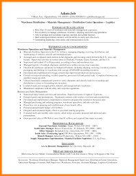 Warehouse Manager Resume Sample 100 warehouse manager resume informal letter 40