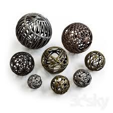 Decorative Metal Balls 100d Models Other Decorative Objects Decorative Metal Balls 78