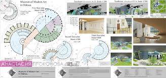 Архитектура Музей современного искусства Анастасия Проконова  Музей современного искусства Дипломная работа Чертеж