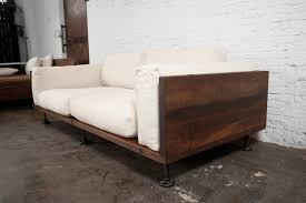 V44 Two Cushion Reclaimed Wood Sofa Modern Sofas los Home Devotee