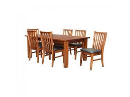 europe solid new zealand pine timber 7 piece dining set english oak finish