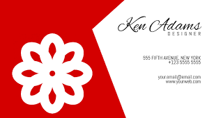 Simple Red And White Business Card Template Postermywall