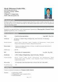 Fresher Resume Sample Usa Resumes Format Examples For Freshers Gorgeous Mechanical Fresher Resume Format