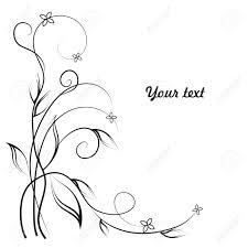 あなたのテキストのための場所で白と黒のシンプルな花の背景