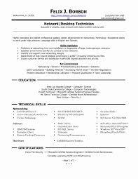 Resume Format For Technical Support Engineer Lovely Desktop Support