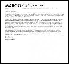 Get School Secretary Cover Letter Samples Document And Letter