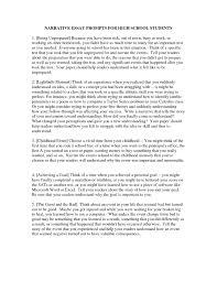 Personal Narrative Essay Example High School Personal Narrative Examples High School Students Student Writing