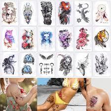 148 21 см Hb цветные временные татуировки наклейки водонепроницаемый для женщин