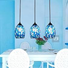 blue glass pendant lights s s blue blown glass pendant lights