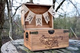 wood wedding card box Wedding Card Holder Chest rustic cards chest treasure chest wedding card holder