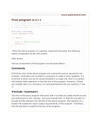 Chapter 2 - Structure Of C++ Program
