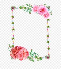 Paper With Flower Border Flower Wreath Frame Clipart Paper Flower Rose