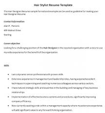 Hair Stylist Resume Fascinating Download Free Resume Format Resume Templates Hair Stylist Www