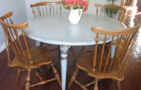 kitchen decoration um size round white wooden dining table and brown chairs wood unfinished rounds