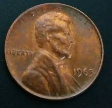 Wheat Penny Value Chart 1800 To 1959 Details About 1965 Penny Error Coin Ddo Lincoln Cent New