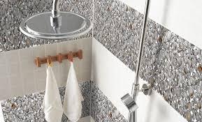 pebble glass mosaic tile crystal backsplash shower wall stickers 619