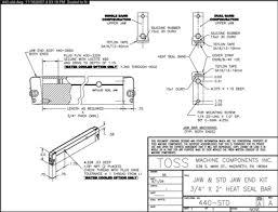 toss� heat seal jaw bars impulse heat sealer parts at Heat Sealer Wiring Diagram
