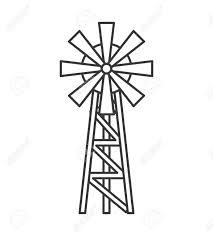 farm windmill drawing. 1174x1300 Windmill Farm Isolated Icon Vector Illustration Design Royalty Drawing GetDrawings.com