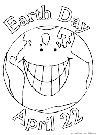 Earth Day Color Page Holiday Coloring Pages Color Plate Coloring