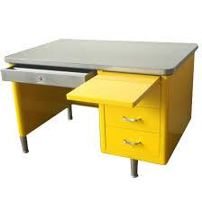 vintage steel furniture. Steelcase Single Pedestal Tanker Desk Vintage Steel Regarding Small Metal Remodel 10 Furniture