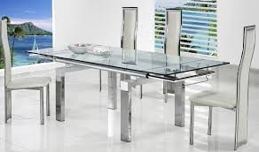 endearing ikea dining table chairs 37 glass set rectangle glas on top with silver metal legs