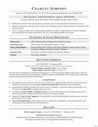 Qtp Sample Resume For Software Testers Best Of Qtp Automation Tester