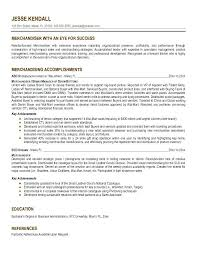 Merchandiser Resume Objective Professional Resume Templates