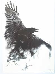 10 штлот мода летающий ворона сексуальная вспышка водонепроницаемый татуировки