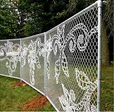 chain link fence. The Dutch Design Firm Demakersvan Created This Lace Chain-link Fence In Response To A Challenge By Center At Philadelphia University: Create Chain Link O