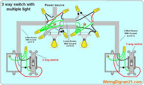 3 way switch wiring diagram multiple light double how to wir a double light