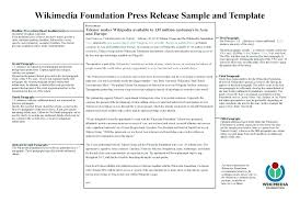 Simple Press Release Template Simple Press Release Template Media Word Example Theme Format Doc