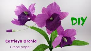 Paper Orchid Flower How To Make Cattleya Orchid Flowers From Crepe Paper Crepe Paper