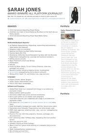 Crazy Journalism Resume Examples 2 Journalist Samples CV Resume