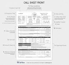 notes sheet template creating professional call sheets free template download