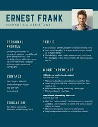 blue modern resume template blue minimalist modern resume templates by canva