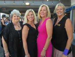 santa barbara yacht club charity regatta committee chairwoman francie lufkin left with members gail young shari guilfoyle and beverly toole at the