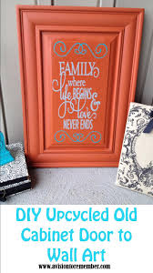 Upcycled Wall Art Diy Old Cabinet Door Upcycle To Family Room Wall Art