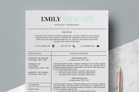 Creative Cv Templates Simple Resume Template Emily